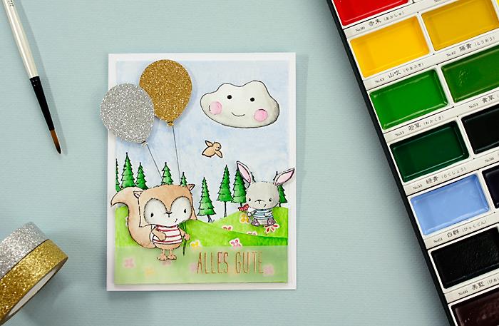 Tierische Geburtstagskarten | Purple Onion Designs