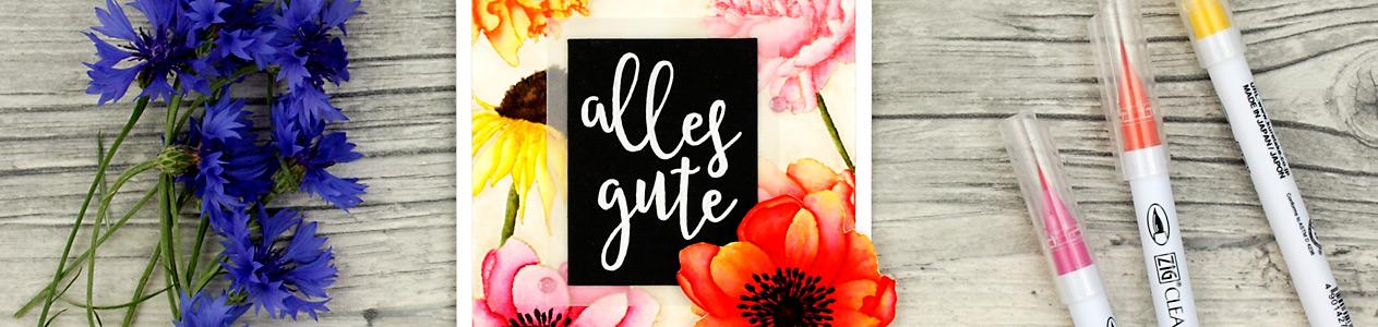 wieesmirgefaellt.de | Sommerblümchen - Summer flowers | Sophisticated script Concord & 9th + Flower Garden Stampers Anonymous