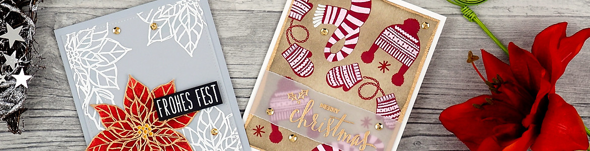 wieesmirgefaellt.de | MFT Winter warmth + Stampin up Poinsetta | Christmas cards