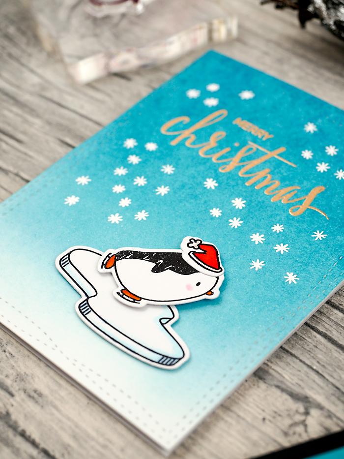 wieesmirgfaellt.de | Schnelle Weihnachtskarten - Qickly made christmas cards | Mama Elephant Arctic penguins