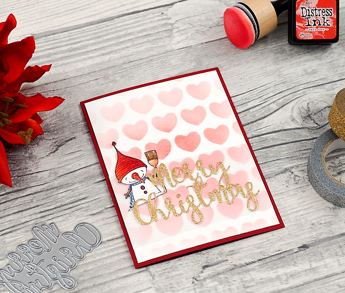 wieesmirgfaellt.de | Schnelle Weihnachtskarten - Qickly made christmas cards | Purple Onion Designs snow man