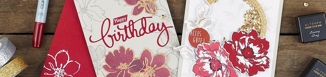 wieesmirgefaellt.de | Altenew Inspiration Challenge | Wild Hibiscus + Beautiful Day