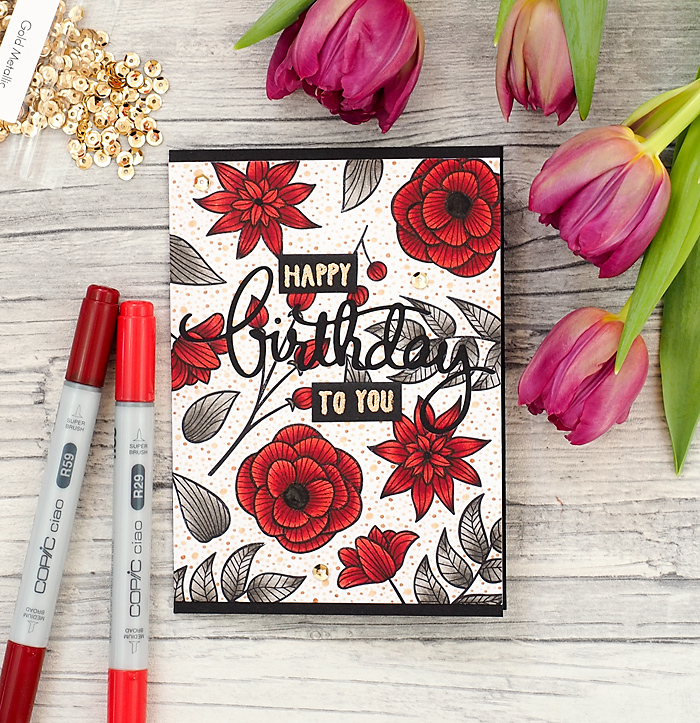 wieesmirgefaellt.de | Happy Birthday Karten / cards | Altenew Striped Florals